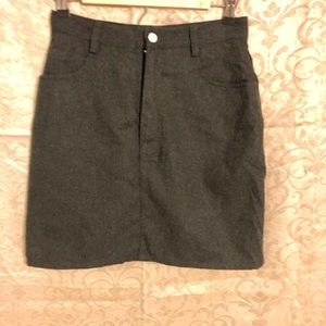High-waisted vintage Recycled wool blend skirt